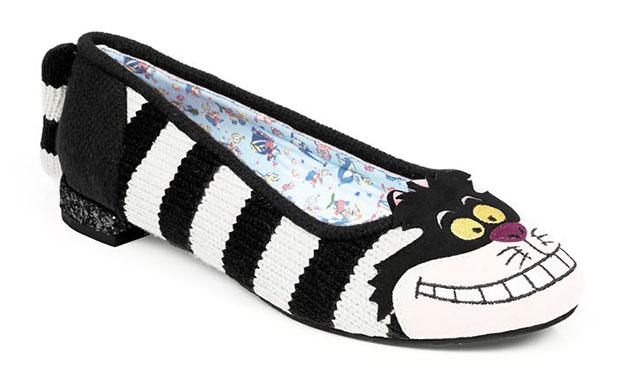 รองเท้าส้นแบนแมวเชสเชอร์