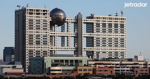 Fuji television building โตเกียว ญี่ปุ่น