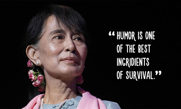 คำพูดสร้างแรงบันดาลใจจาก อองซานซูจี