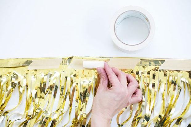 วิธีทำฉากหลังสีทอง