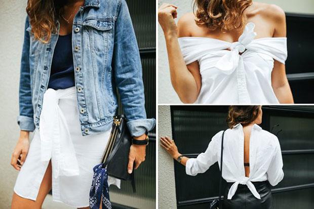 วิธีสร้างสรรค์กับการใส่เสื้อเชิ้ตสีขาว