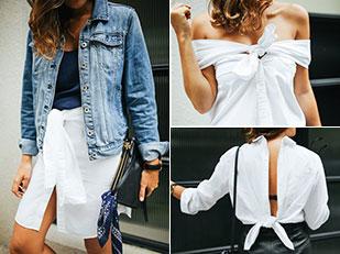 วิธีสร้างสรรค์ในการใส่เสื้อเชิ้ตสีขาว