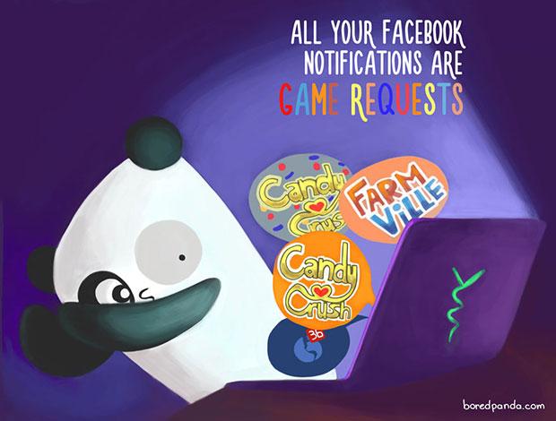 ตอนที่พบว่าข้อความแจ้งเตือนของ Facebook มีแต่คำขอชวนเล่นเกม