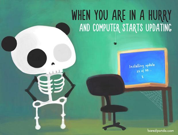 ตอนที่รีบๆแต่คอมพิวเตอร์ดันมาอัพเดทข้อมูล