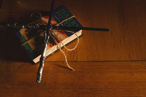 หมอนรองแหวนเป็นหนังสือแฮร์รี่ พอตเตอร์