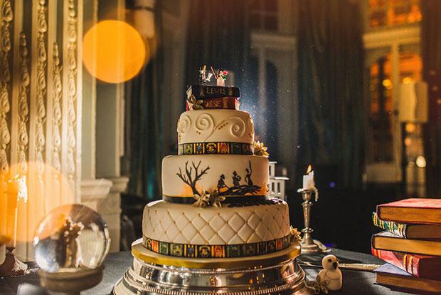 เค้กในงานแต่งงานธีม แฮร์รี่ พอตเตอร์