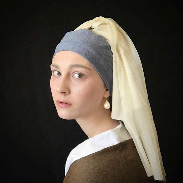 แต่งตัวลุควินเทจ ภาพวาด Girl With A Pearl Earring