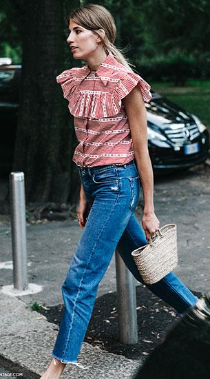 Cropped Jeans, เสื้อแขนกุด