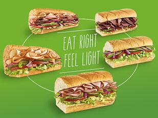 อร่อยแถมได้สุขภาพกับเมนูแซนด์วิชและสลัดไขมันต่ำที่ SUBWAY