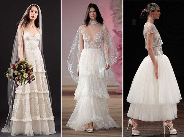 เทรนด์ชุดแต่งงาน Tiered Skirts