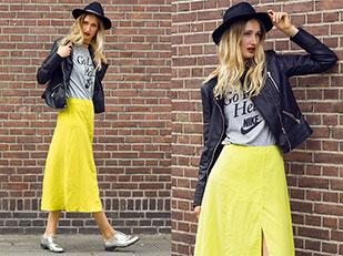 แจ็คเก็ต Zara, เสื้อยืด Nike, รองเท้า Asos, กระโปรง Asos, หมวก H&M