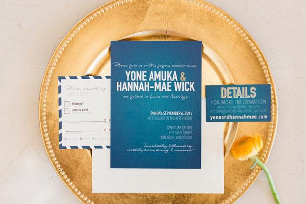 การแต่งงานสไตล์วิสคอนซิน บัตรเชิญ DIY