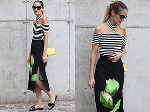 เสื้อ Poppy Lovers, รองเท้า Jeffrey Campbell, กระโปรง Gamiss, กระเป๋า H&M