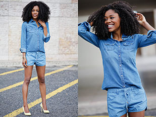 เสื้อ Primark, รองเท้า Bershka, กางเกงขาสั้น Bershka, กำไล Bimba&Lola