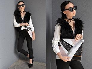 กระเป๋า Snupped, กางเกง Bardot, แว่นตากันแดด Quay
