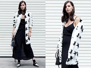 เดรส Zara, เสื้อโค้ท Missguided, รองเท้า Zara