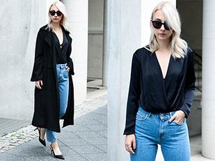 เสื้อโค้ท Zara, เสื้อ Zara, รองเท้าส้นสูง Zign, กางเกงยีนส์ Zara, แว่นตากันแดด Ace & Tate
