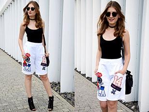 เสื้อ Bershka, รองเท้า Zara, กางเกงขาสั้น Plny Lala, แว่นตากันแดด Ray Ban