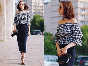 เสื้อ Poppy Lovers, กางเกง Zara, กระเป๋า Furla, รองเท้า Zara, แว่นตากันแดด Christian Dior