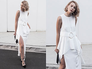 เสื้อ Shona Joy, รองเท้า Zara, กระโปรง Shona Joy, กระเป๋า The Daily Edited
