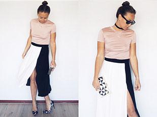 เสื้อ Zara, กระโปรง Zara, กระเป๋า Primark, รองเท้าส้นสูง Primark, แว่นตากันแดด Ray Ban