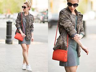 แจ็คเก็ต Express, เดรส Loft, กระเป๋า Furla, รองเท้า Adidas, แว่นตากันแดด Dior