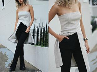 กางเกง Third Form, เสื้อ August Street, รองเท้าบู๊ท Tony Bianco