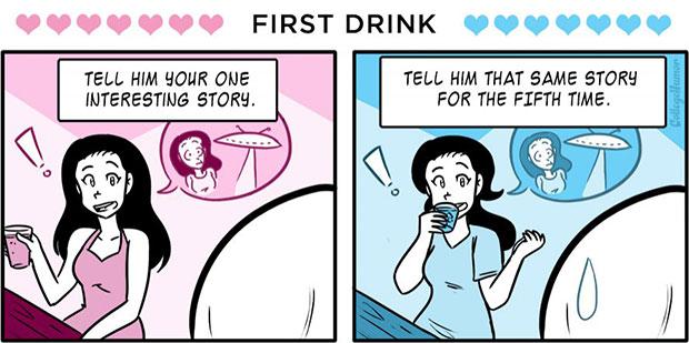 เครื่องดื่มแก้วแรกตอนมีเดท