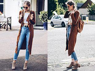 เสื้อคลุม iClothing, เสื้อ Bubble, รองเท้าบู๊ท La Redoute, กางเกงยีนส์ Zara, กระเป๋าเป้ La Redoute