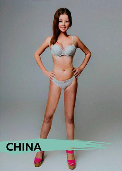 รูปร่างสาวๆในอุดมคติของคนจีน
