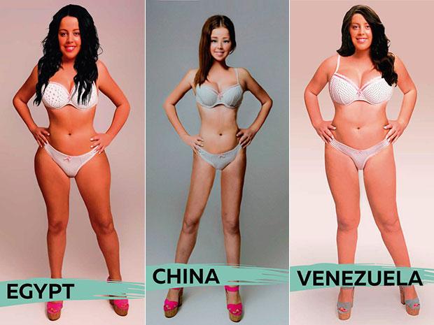 รูปร่างสาวๆในอุดมคติจาก 18 ประเทศทั่วโลก