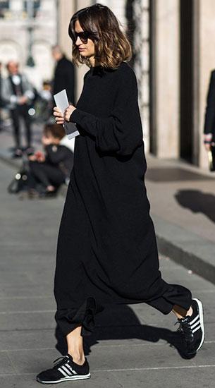 เดรสสีดำ, รองเท้า Adidas
