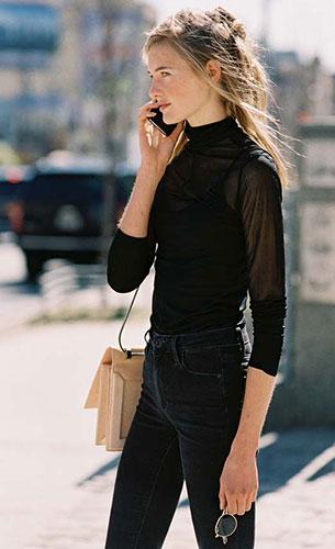 เสื้อสีดำ, กางเกงยีนส์สีดำ