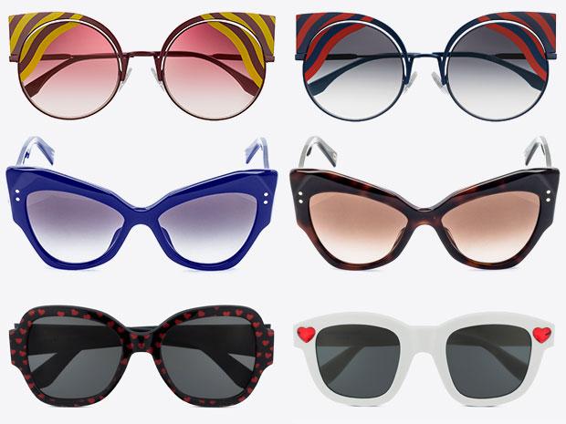 แว่นกันแดดจาก Fendi, Marc Jacobs และ Saint Laurent