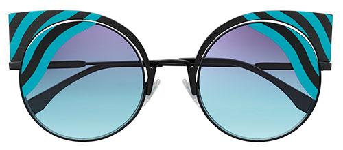 แว่นกันแดด Fendi Hypnoshine สีฟ้า