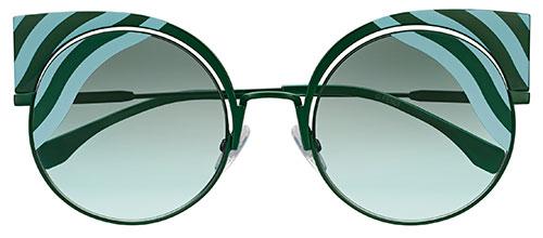 แว่นกันแดด Fendi Hypnoshine สีเขียว