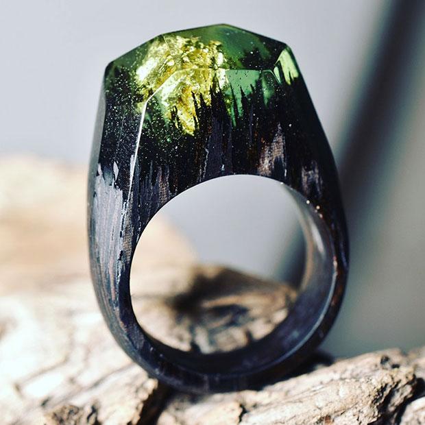 แหวนทำจากไม้จริง