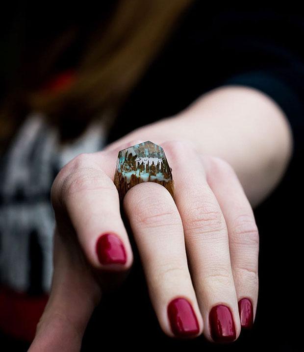 แหวนทำด้วยไม้