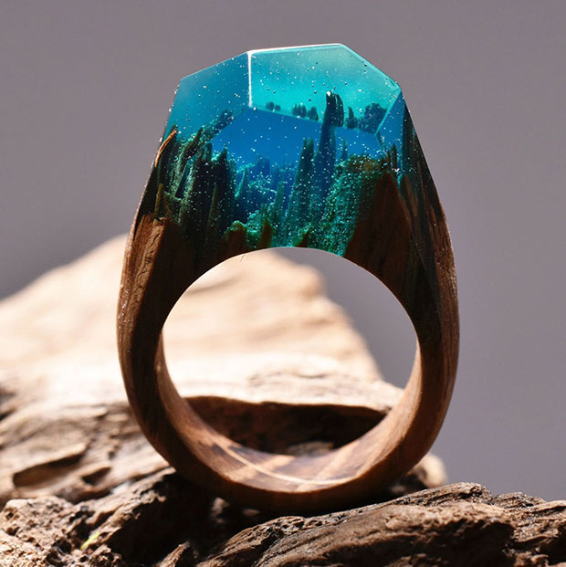 แหวนทิวทัศน์ใต้น้ำ