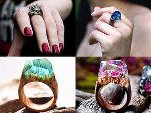 แหวนไม้และเครื่องประดับเรซิ่น