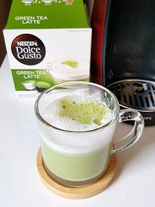 ชงกาแฟ Green Tea Latte