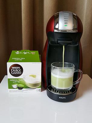 เครื่องชงกาแฟ Green Tea Latte