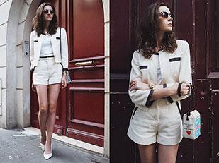 เสื้อยืด Peserico, กระเป๋า Olympia Le Tan, รองเท้าส้นสูง Zara, แว่นตากันแดด Asos