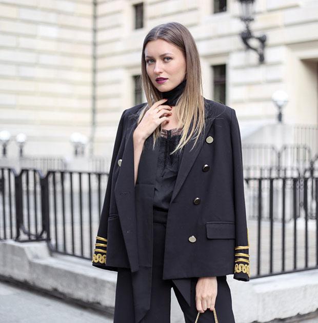 เสื้อสูท Storets, เสื้อ Comptoir des Cotonniers, กางเกง Zara, กระเป๋า Lanvin, รองเท้า & Other Stories