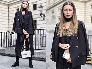 เสื้อสูท Storets, เสื้อ Comptoir des Cotonniers, รองเท้า & Other Stories, กางเกง Zara, กระเป๋า Lanvin