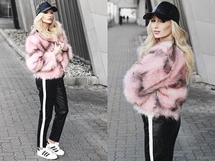เสื้อโค้ท Shein, หมวก Shein, กางเกง Shein, นาฬิกา Nicole Vienna