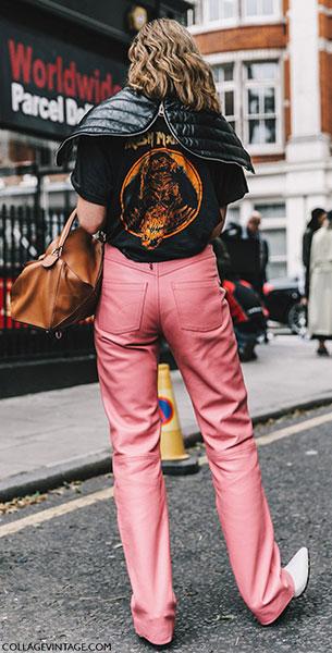 แฟชั่นสตรีทกับกางเกงสีชมพู