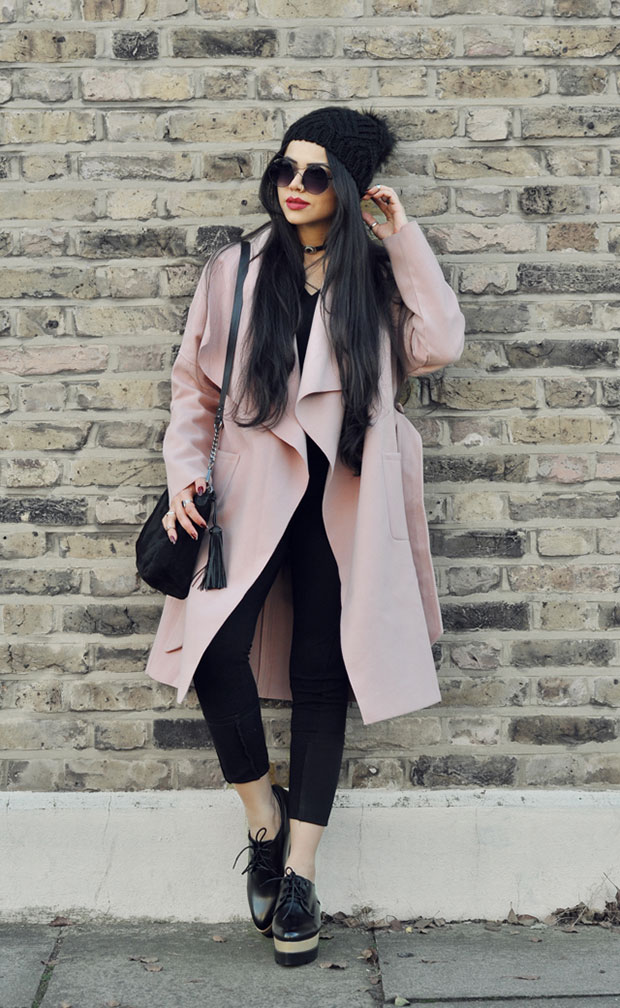 Shein Coat, Zaful Sweater, Zaful Pants, Zaful Oxford Flatform