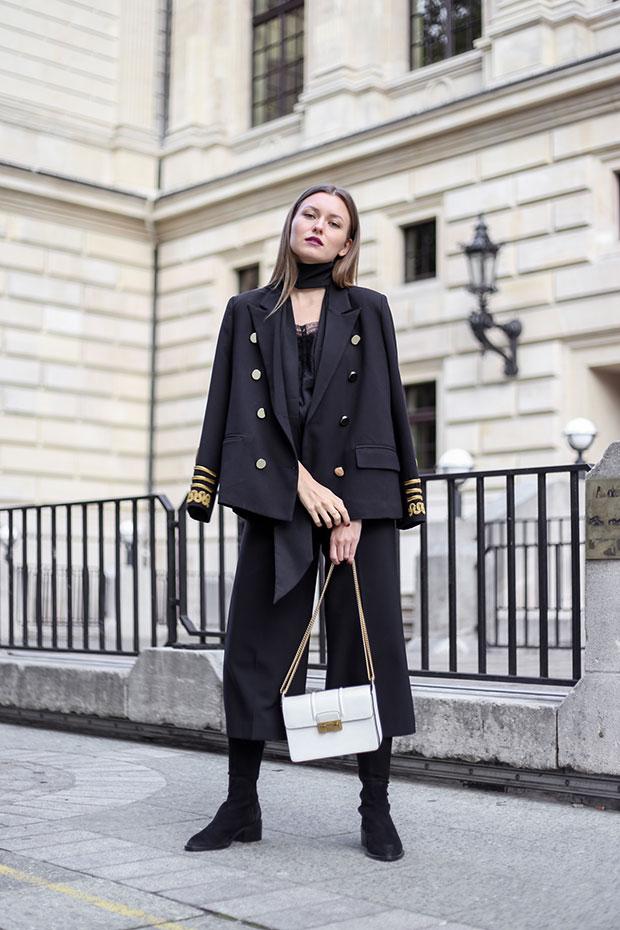 Storets Blazer, Comptoir des Cotonniers Top, Zara Culottes, & Other Stories Overknees