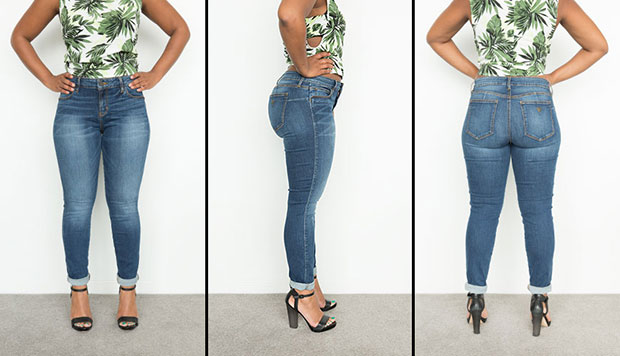 กางเกงยีนส์เอวสูงปานกลาง Mid Rise Curve X ของ Guess